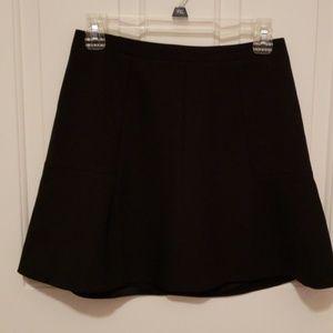 J Crew Black Flared Mini Skirt NWOT